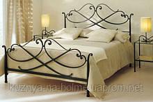 Кованая кровать Zefiro от 150х190 до 200х200. Бесплатная доставка по Киеву. К2044