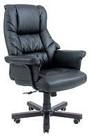 Кресло Конгресс Вуд кожзам Черный (Richman ТМ)