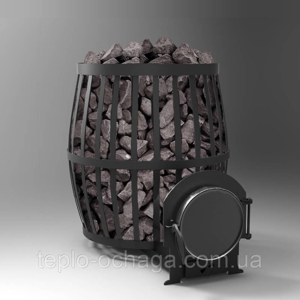 Печь банная дровяная для бани Бочка 33 куб.м.