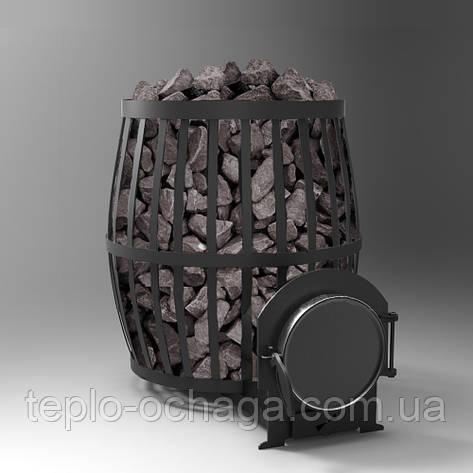 Печь банная дровяная для бани Бочка 33 куб.м., фото 2