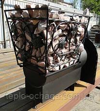 Печь каменка для сауны Buller Profi-30 с выносом топки, фото 3
