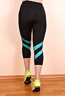 Бриджи спортивные 2 полосы (2 цвета), лосины для фитнеса, велосипедки