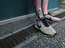 Мужские кроссовки Nike Flyknit Racer Multicolor, Найк Флайнит, фото 2