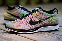 Мужские кроссовки Nike Flyknit Racer Multicolor, Найк Флайнит, фото 3
