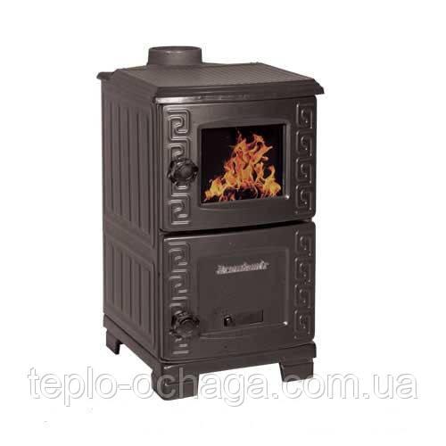 Чугунная печь камин длительного горения Турбо EM-203F Duval ERENDEMIR  - Тепло очага в Киеве