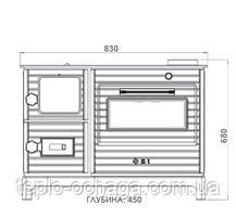Чугунная печь-кухня на дровах  EК-102F Duval ERENDEMIR, фото 3