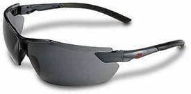 Защитные очки открытые 3М дымчатая линза