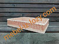 Плетеная корзина для выпечки 50*30 с высотой 8 см