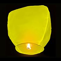 Небесные фонарики Купол ,1 метр желтый