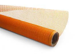 Сетка стеклотканевая 5 х 5 мм фасадная 1 м x 50 м 160 г/м кв  оранжевая HTtools