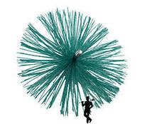 Щетка для чистки дымохода 180 мм, пластик под резьбу