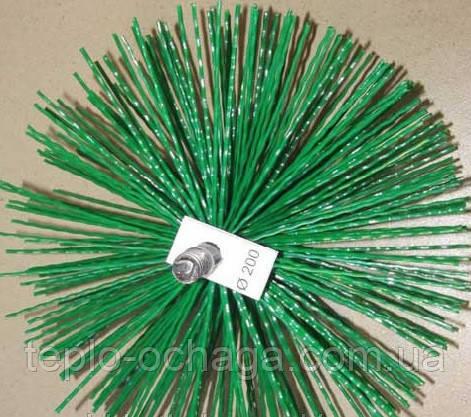 Щетка для чистки дымохода, пластик под резьбу, 200 мм