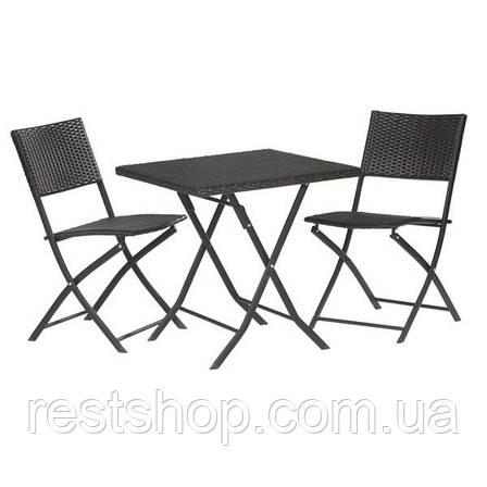 Комплект раскладной Кофейный столик + 2 стула, фото 2