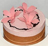 Малиновый муссовый торт