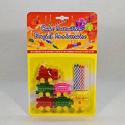 """Свечи для торта """"Cake Décoration Bougies Anniversaire 6х"""" (Паровозик) в упаковке"""