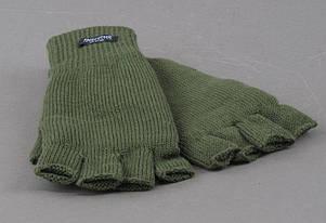 Перчатки беспалые вязаные Thinsulate олива, фото 2