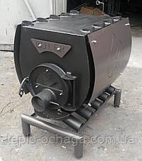Печь для отопления дома Булерьян, тип 02 с кожухом и стеклом, фото 3
