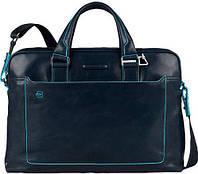 Функциональный мужской портфель из натуральной кожи Piquadro BL SQUARE/N.Blue, CA3335B2_BLU2 синий