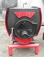 Отопительно варочная печь Булерьян, тип 03 со стеклом и кожухом
