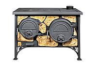 Дровяная печь для дома Эктор с керамикой