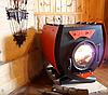 Булер'ян з варильної поверхнею зі склом, чавунними колосниками і кожухом тип 01, фото 2