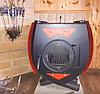 Печь на дровах Булерьян со стеклом, чугунными колосниками, тип 04, фото 4
