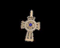 Золотой кельтский крест с камнем в центре