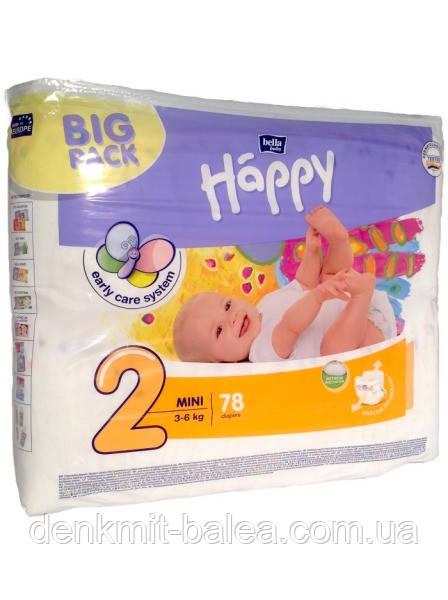 Детские подгузники, памперсы Bella Happy Mini 2 (3-6 кг) 78 шт ... 2304428aae8