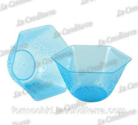 Пластиковая голубая креманка «Backino» 020400 (200 мл)