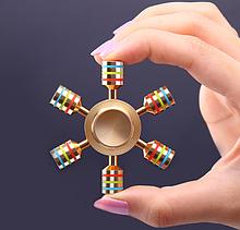 Дизайнерский спиннер Hand Fidget Spinner JX-6 «Радуга»