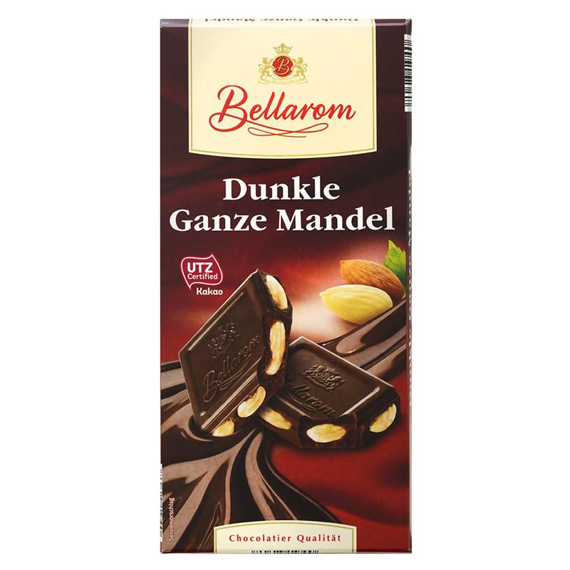 Шоколад Bellarom Dunkle Ganze Mandel черный с цельным миндалем 200г