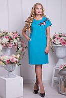Платье большого размера из льна Ваниль р 52,54,56,58,60,62