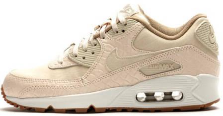 Женские кроссовки Nike Air Max 90 Premium Oatmeal/Sail/Khaki, Найк Аир Макс 90, фото 2