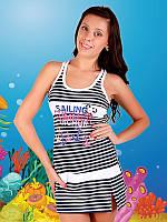 Пляжная летняя туника Турция 6012-3