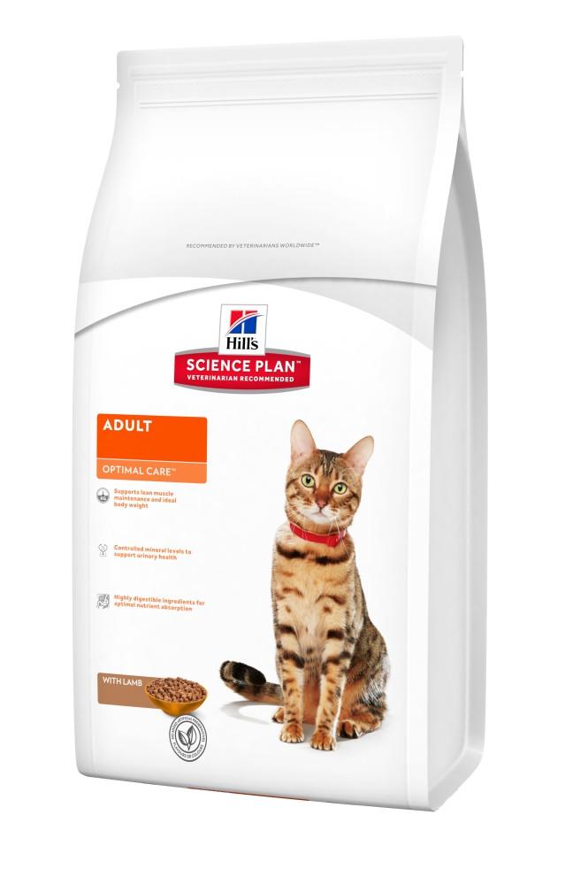 Hill`s ADULT Optimal Care Lamb 2 кг - корм для кошек от 1 до 7 лет (ягненок)