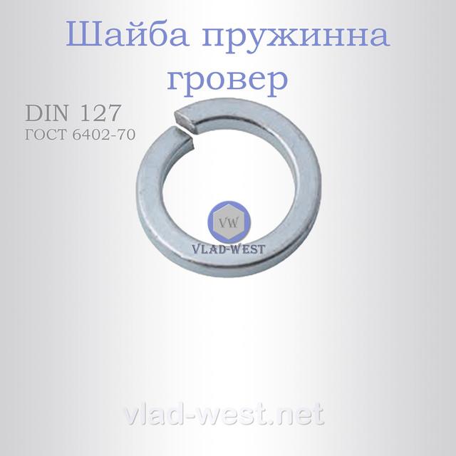 Шайба пружинная гровер DIN 127 (ГОСТ 6402-70)