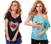 Женская футболка с двухсторонними пайетками