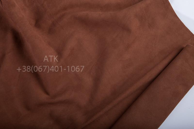 Замша одежная светло-коричневая