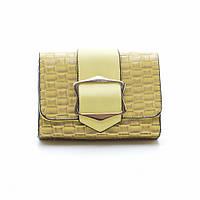 Модный  изящный стильный клатч  J&J , желтый