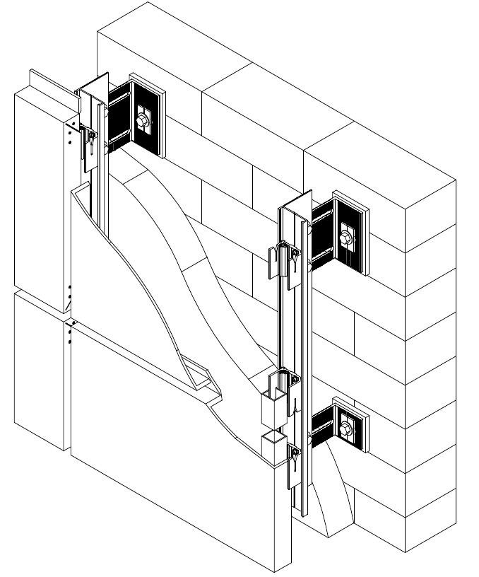 Салазочная алюминиевая фасадная система