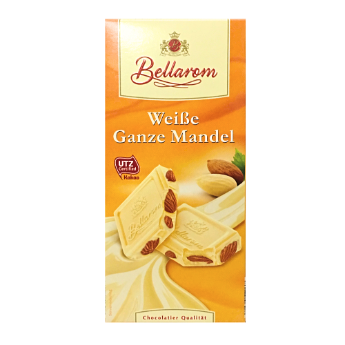 Шоколад Bellarom белый с цельным миндалем  200г