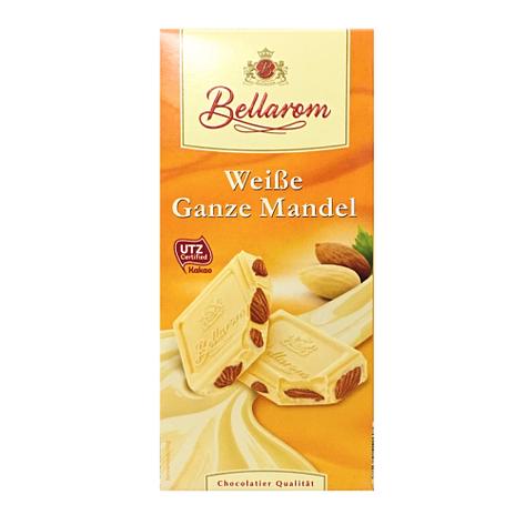 Шоколад Bellarom белый с цельным миндалем  200г, фото 2