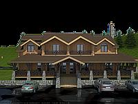 Проект гостиницы, гостиница Крымская жемчужина 670м2