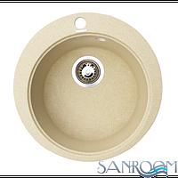 Granitika Round R454520 Песок Гранитная кухонная мойка 450x450