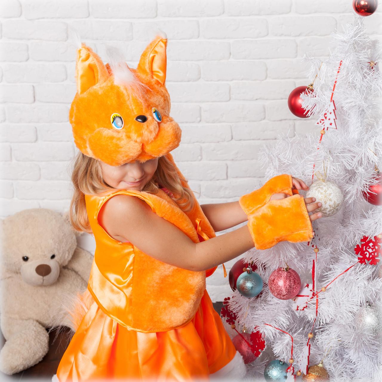 Детский новогодний костюм для девочки белочки