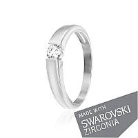 Серебряное кольцо с цирконием SWAROVSKI ZIRCONIA К2С/459 - 17,4