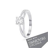 Серебряное кольцо с цирконием SWAROVSKI ZIRCONIA К2С/492 - 17,4