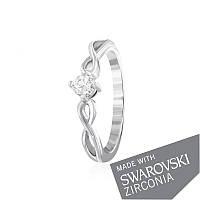 Серебряное кольцо с цирконием SWAROVSKI ZIRCONIA К2С/493 - 17,4