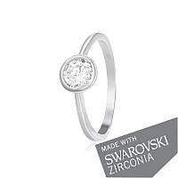 Серебряное кольцо с цирконием SWAROVSKI ZIRCONIA К2С/494 - 17,4