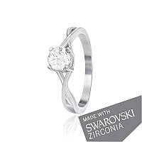Серебряное кольцо с цирконием SWAROVSKI ZIRCONIA К2С/499 - 15,5